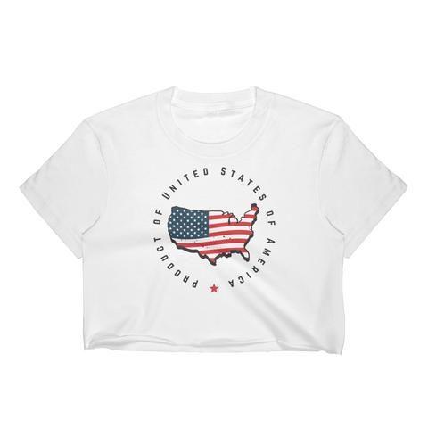 Retro United States Seal Women's Crop Top