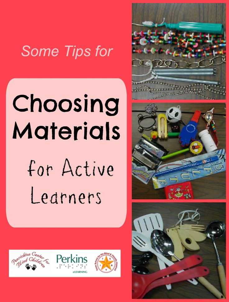Try these tips for choosing Active Learning materials for individuals who have significant multiple disabilities.