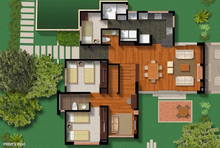 23 best proyectos casas de campo images on pinterest - Distribucion casa ...