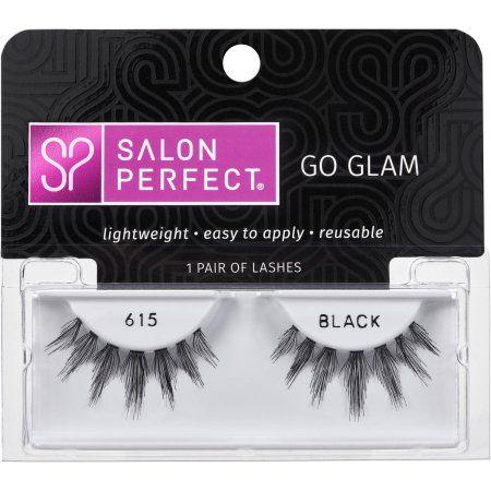 Buy Salon Perfect Perfectly Glamorous False Lashes, 615 Black at Walmart.com