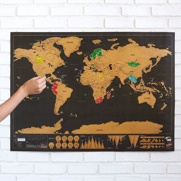 17 Best Scratch Maps For Your 2018 Travel Adventures - new world map canvas picture