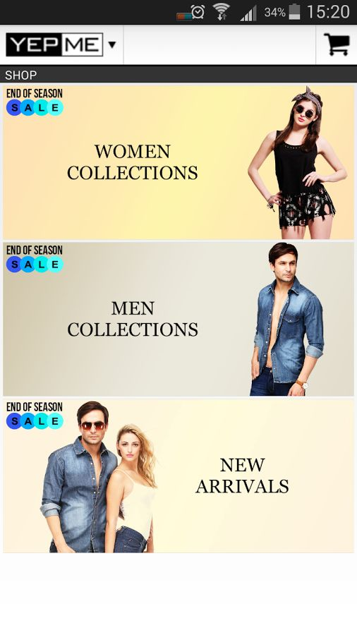 Yepme.com is India's biggest online fashion shopping brand. Now experience online shopping in India on your mobile device with the Yepme App. Yepme Android App gives you hassle free one-touch-access to the latest fashion out there. You can get this app @ https://play.google.com/store/apps/details?id=com.yepme
