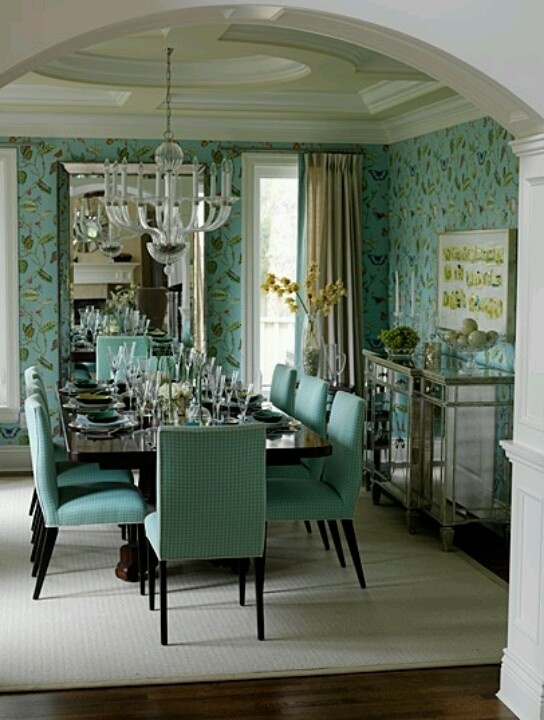 turquoise dining room for mallory pinterest