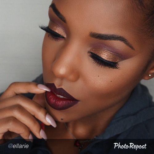 "Hello boo!!! by @ellarie "" Caramel, boudoir, juicy plum & vino @motivescosmetics. Lid is On the Rocks get the look at http://tamirahamilton.com  Internationally http://global.shop.com/hamiltonentinc  @colourpopcosmetics. Ellarie lippie and lip pencil @colourpopcosmetics."""