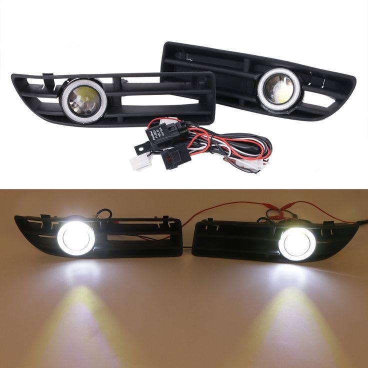 69.99$  Know more  - LED Fog Lights Kit For VW Bora JETTA TDI GLS GLX 1999 - 2004 Angel Eyes Convex Lens Light Front Bumper Grille Grill #9444
