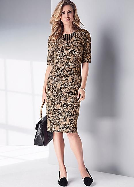 Jacquard Shift Dress #Kaleidoscope #Workwear
