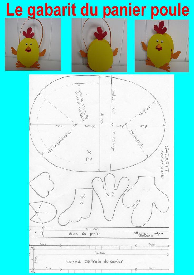 Voici le gabarit du panier poule.[/COLOR] Pour copier le gabarit cliquez sur l'image pour l'agrandir ou bien faites un copier coller pour enregistre l'image sous Word avant de l'imprimer. [b]Quelques ...