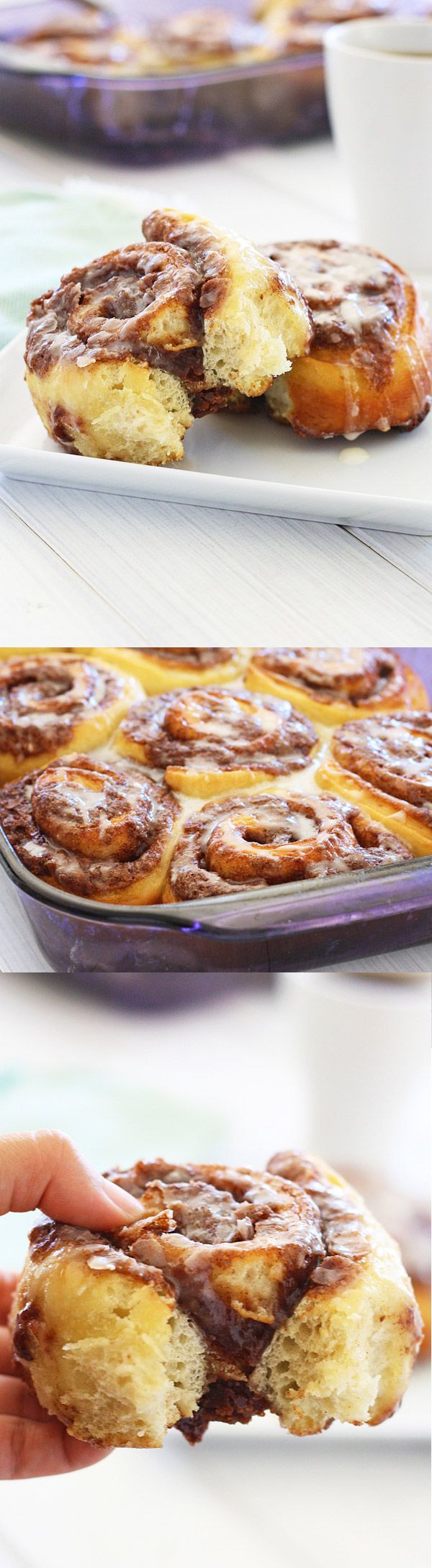 Pizza Dough Cinnamon Rolls – The easiest cinnamon rolls recipe EVER made with store-bought pizza dough. Great recipe for busy moms! | rasamalaysia.com