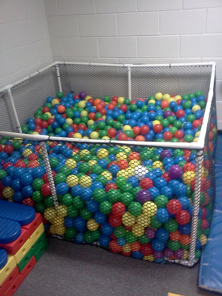 Homemade ball pit- I loved to play in the ball pits!!! they are hard to find now a days