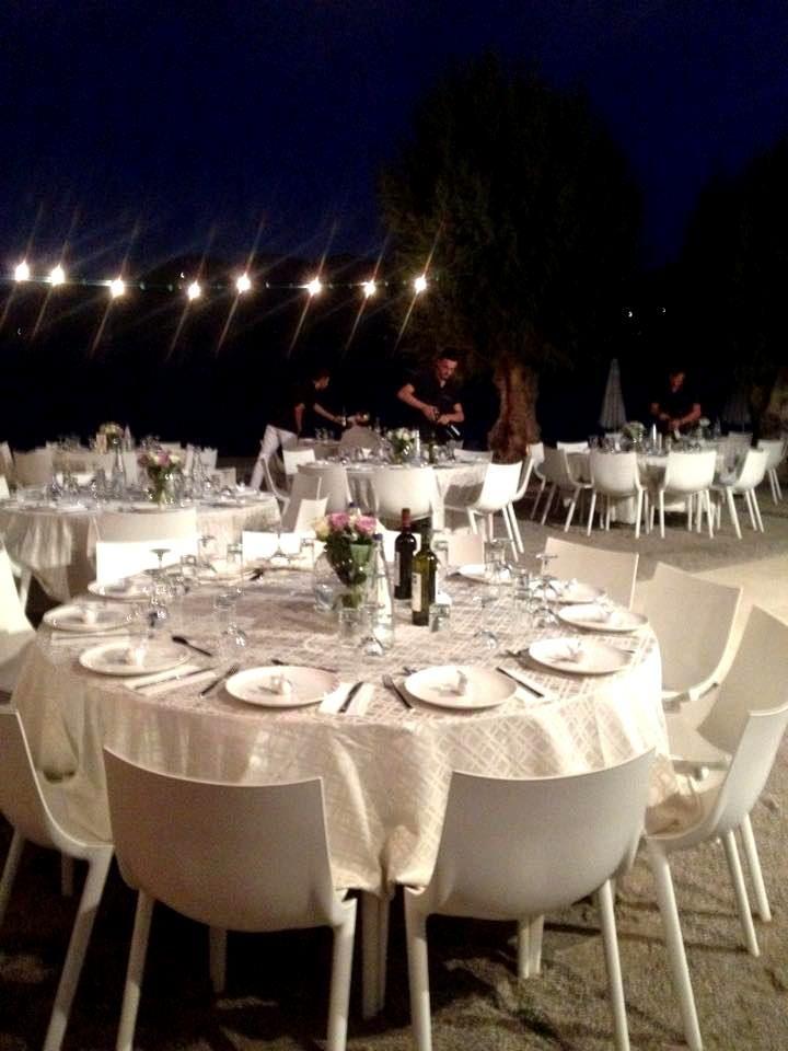 Wedding reception  by the sea..