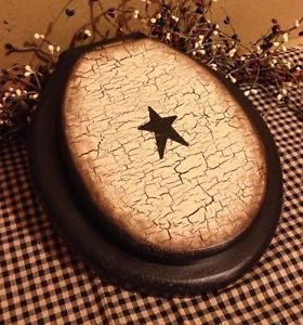 Primitive Wood Toilet Seat Wall Decor Crackle Country Farmhouse