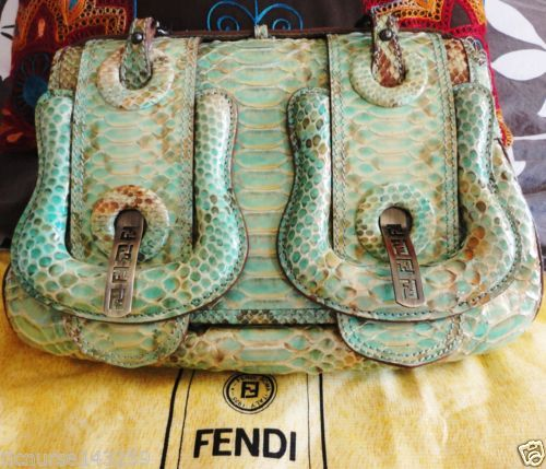 100-AUTHENTIC-RARE-LIMITED-EDITION-FENDI-PYTHON-SNAKESKIN-B-BAG-HANDBAG-VGUC