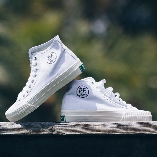 Kicking it old school today with the white @pf flyers. Sometimes you need to #unfollowthecrowd and put on a classic! These pair great with joggers. #PFStyle #PFUSA : @JoesDaily Get yours at www.pfflyers.com #ad