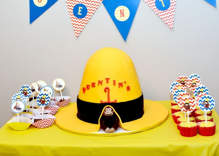 Curious George Birthday Party - so many great details!Curious George Birthday, 1St Birthday Parties, Bday Ideas, 1St Bday, Birthday Parties Ideas, First Birthdays, 2Nd Birthday, 1St Birthdays, First Birthday Cakes