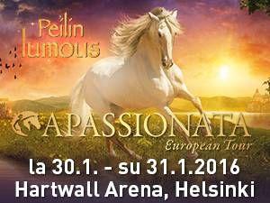 Vuosittain omat yleisöennätyksensä Suomessakin ylittävä #Apassionata-hevosshow palaa alkuvuodesta jälleen Helsinkiin. Euroopan suosituin hevossshow tuo mukanaan uuden Peilin lumous -show'nsa, joka päästään kokemaan Hartwall Arenalla neljässä esityksessä 30.-31. tammikuuta. Lipunmyynti esityksiin alkaa 25. elokuuta Lippupisteessä.
