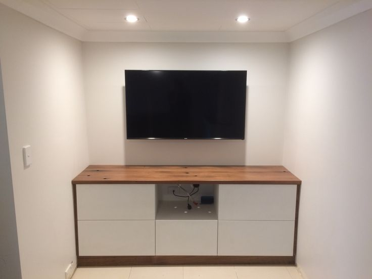 Tv unit built using recycled bridge timbers. Made by Concepts Created