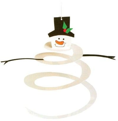 Spiral Snowman craft // Manualidad de muñeco de nieve de papel
