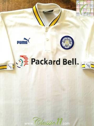 Official Puma Leeds United home football shirt from the 1996/1997 season.