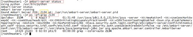 Starting and stopping Ambari-server   In this article we will learn how to work with Ambari server.We will learn how to start stop  restart and some more operations of ambari server from command line. If you are not using root user you have to prefix sudo to all commands listed in below steps.1) Check the status of Ambari server. You can use any one of the commands to check status of ambari server. ambari-server status OR sudoambari-server status ORservice ambari-server status This command…