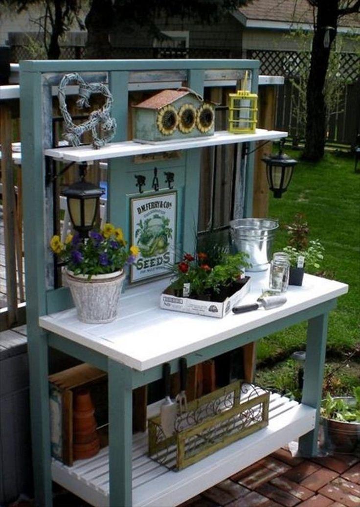 1000 Ideas About Pallet Potting Bench On Pinterest