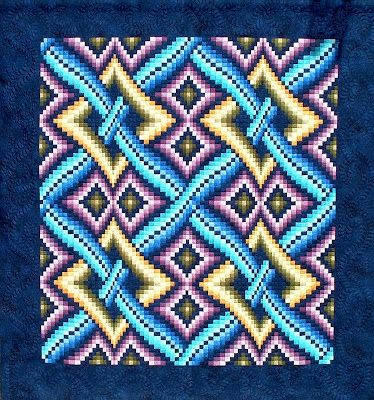 Quilt Inspiration: Quilted Tapestries: the Bargellos of Dereck Lockwood