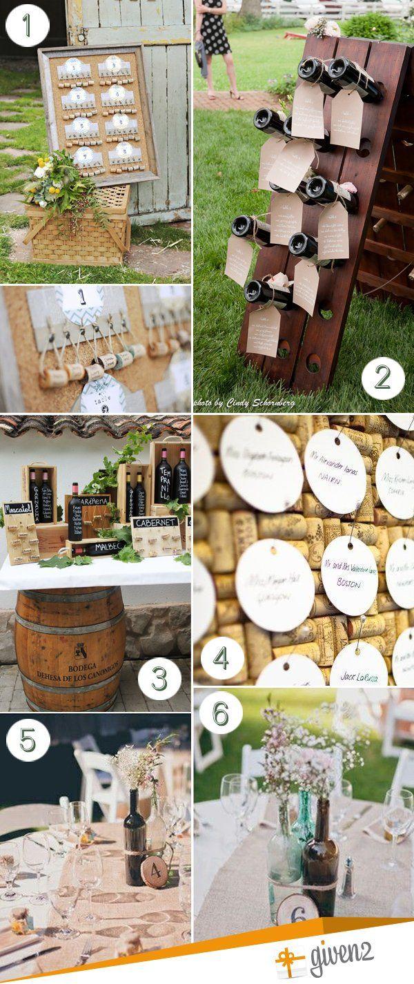 nomi tavoli matrimonio: tema vino
