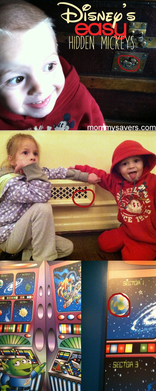Easy Hidden Mickeys for younger kids