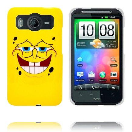 Happy Cartoon (Keltainen 2) HTC Desire HD Suojakuori