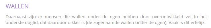 Wallen onder Ogen verwijderen? http://www.hoffkliniek.be/behandelingen/ogen/ooglidcorrectie-blepharoplastiek #wallen #ooglidcorrectie #plastischechirurgie
