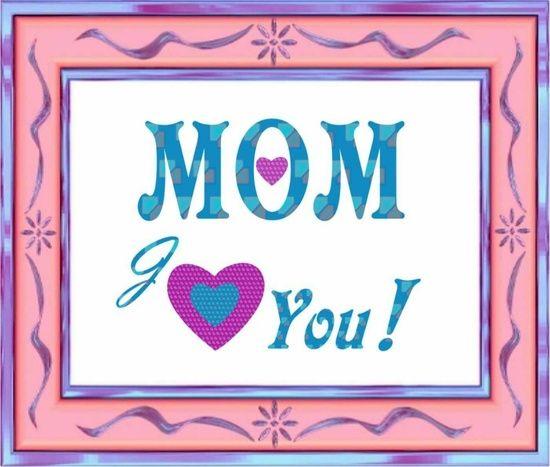 Love You Mom Canvas Print by Elena Indolfi #society6