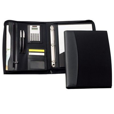 Madison Leather Zip 3 Ring Compendium Min 25 - Bags - Compendiums - IC-D8921 - Best Value Promotional items including Promotional Merchandise, Printed T shirts, Promotional Mugs, Promotional Clothing and Corporate Gifts from PROMOSXCHAGE - Melbourne, Sydney, Brisbane - Call 1800 PROMOS (776 667)