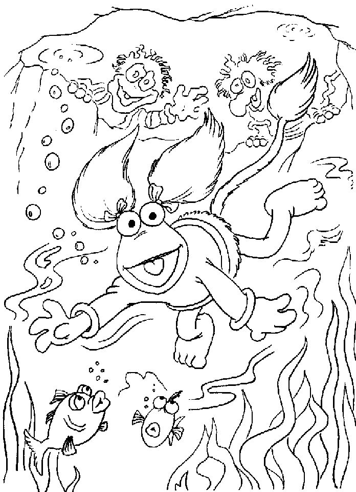 fraggle rock colouring page