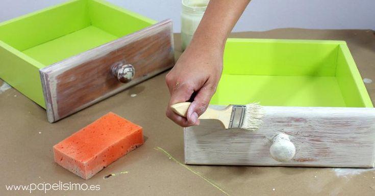 17 mejores ideas sobre desgastado de puntas en pinterest - Tecnicas de pintar muebles ...