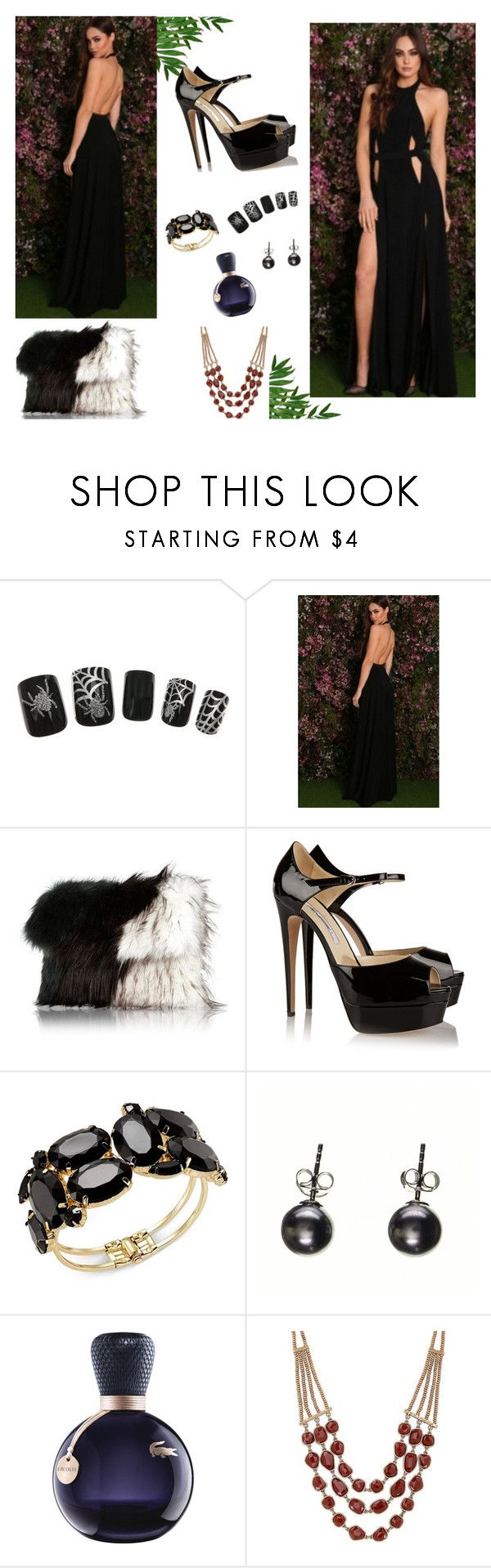 """Elegant Jersey Maxi"" by rachel1992 ❤ liked on Polyvore featuring River Island, Brian Atwood, Thalia Sodi, Lacoste and Lucky Brand"