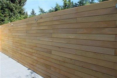 ecohout horizontale houten afschutting.