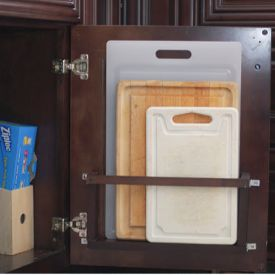 DIY Cutting Board Holder - Get Organzed in 2013 - Kitchen and Home Organization Tips and Ideas (photo from babble.com)   Lots of good ideas here