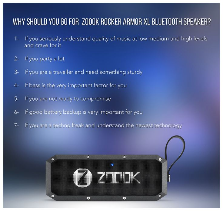 Zoook Rocker Armor XL- first ever 30w bluetooth speaker with massive bass available only on Snapdeal.