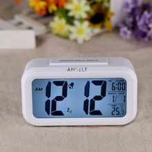Anself led digitale klok herhalen snooze wekker licht geactiveerd sensor tafel klok backlight tijd datum temperatuur display(China (Mainland))