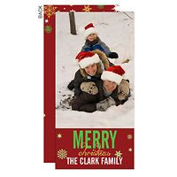 Personalized Photo Postcard Christmas Cards Season's Greetings - Single Picture - Set of 12