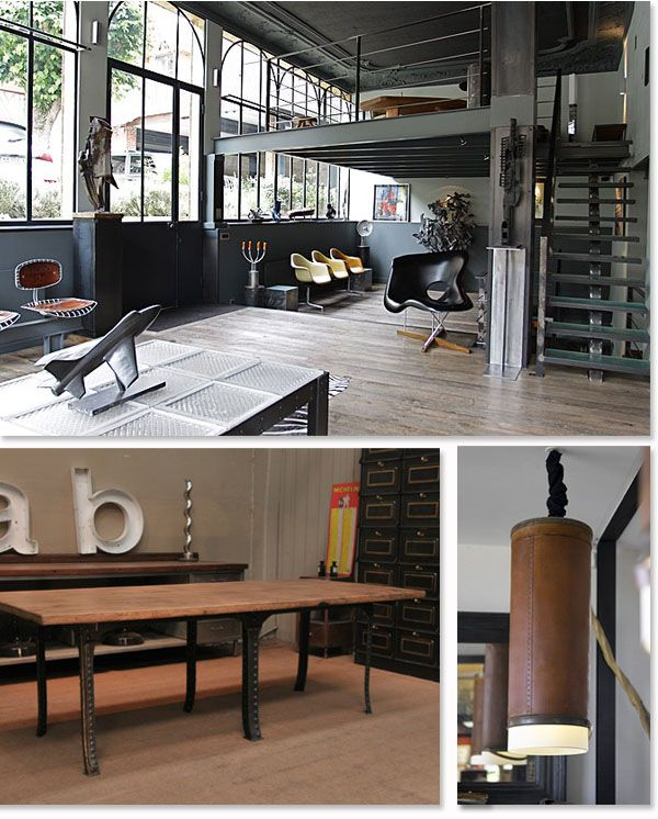 Souvent Decoration Industrielle Restaurant: Meuble style industriel les  FZ96