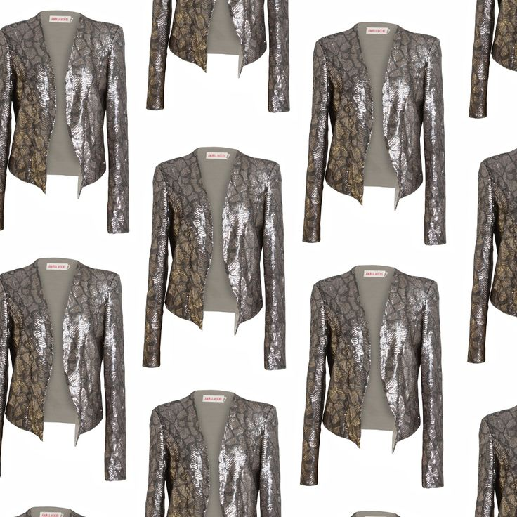 RECORD SEQUIN JACKET - now in store at ANDREA MOORE…