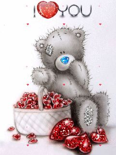 ❤️Hearts GIF ~ I love you ~ Tatty Teddy, from my darlin'Norma....