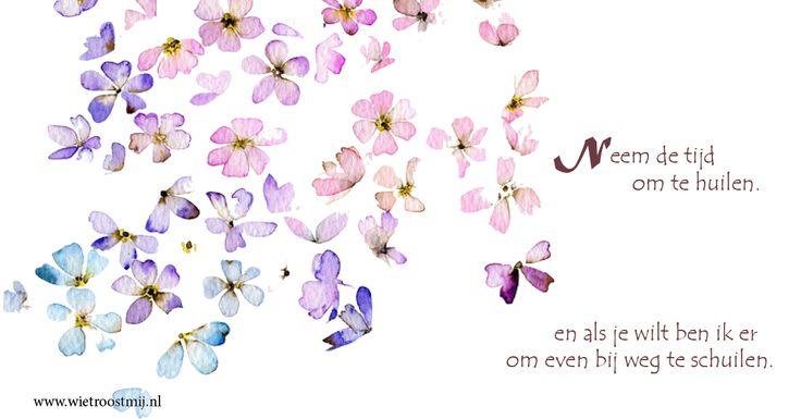 Neem de tijd om te huilen en als je wilt ben ik er om even weg te schuilen  #troost #gedicht #verdriet #condoleren