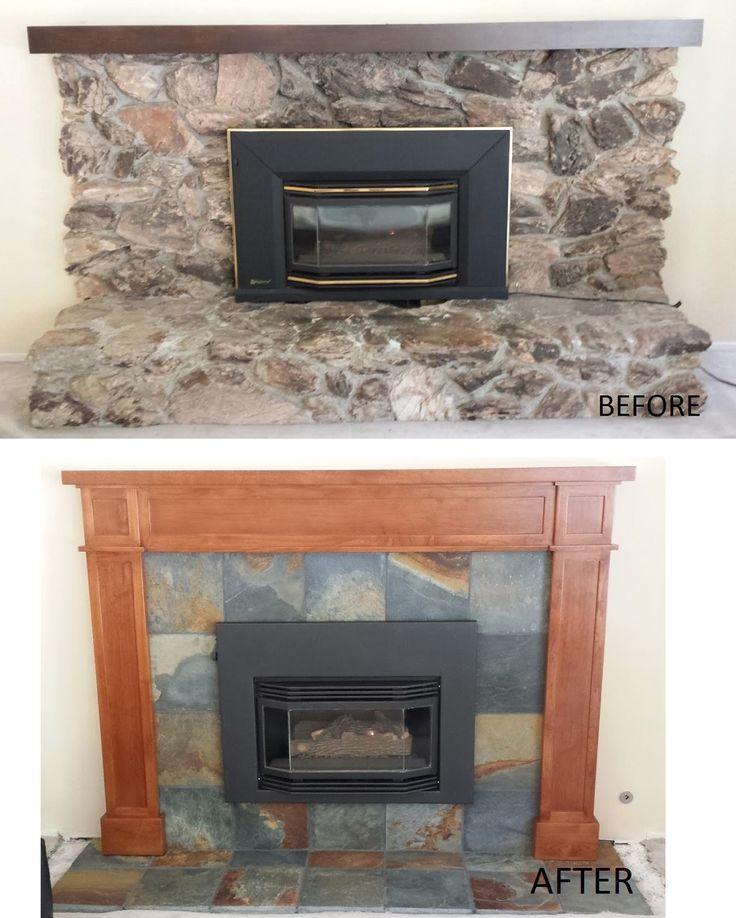 66 best images about fireplace makeover on pinterest wood mantel shelf slate fireplace. Black Bedroom Furniture Sets. Home Design Ideas
