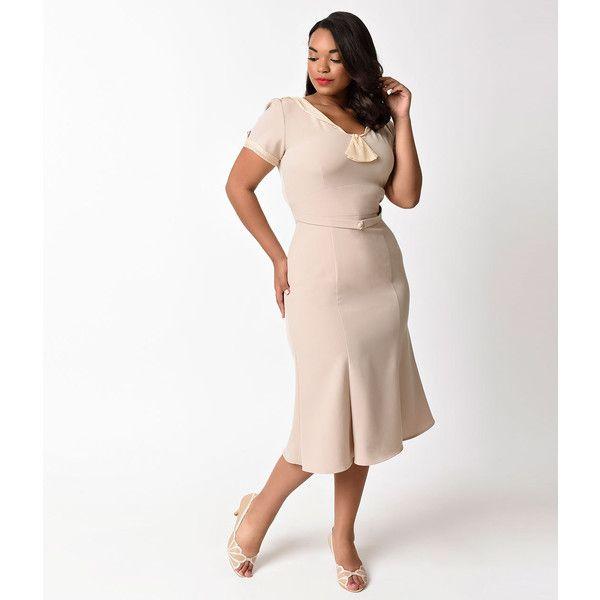 17 best ideas about Beige Plus Size Dresses on Pinterest | Neutral ...