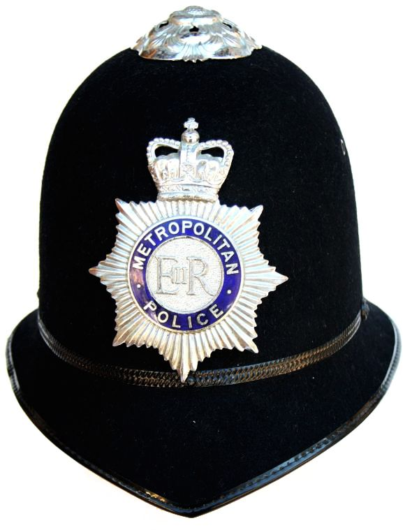"""Bobbies"" throughout British territory have been wearing this style helmet since 1863. Bobbies get their name from Sir Robert Peel who founded the Metropolitan ( #London ) police force in 1829"