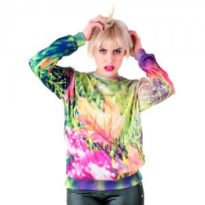 Bluza Oversize Hipster z nadrukiem LIŚCIE unisex