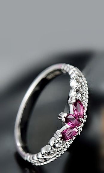 purple garnet tiny crown promise ring for her http://www.jewelsin.com/p-delicate-tiny-crown-style-garnet-925-silver-ring-for-women-1333