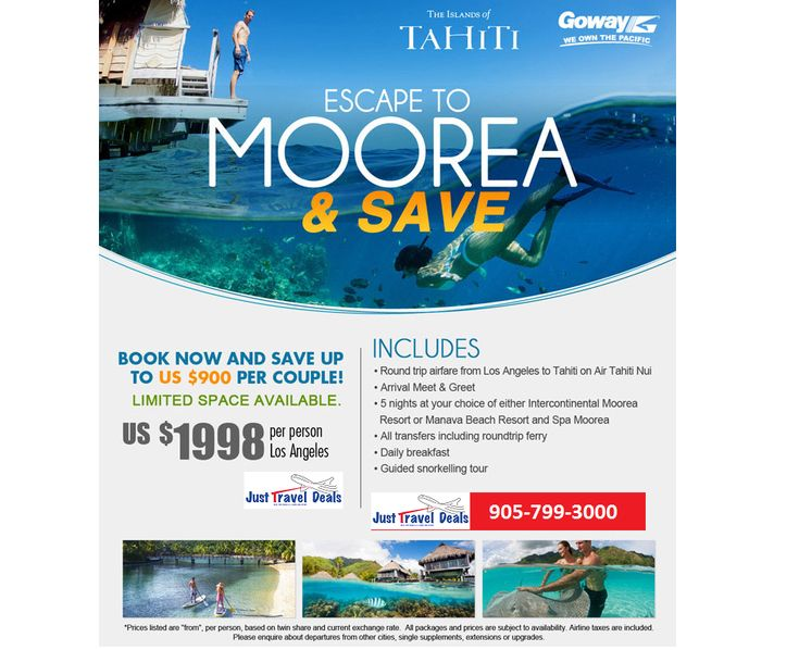Escape to Moorea and Save. Last minute Vacations, Hotel & Flights