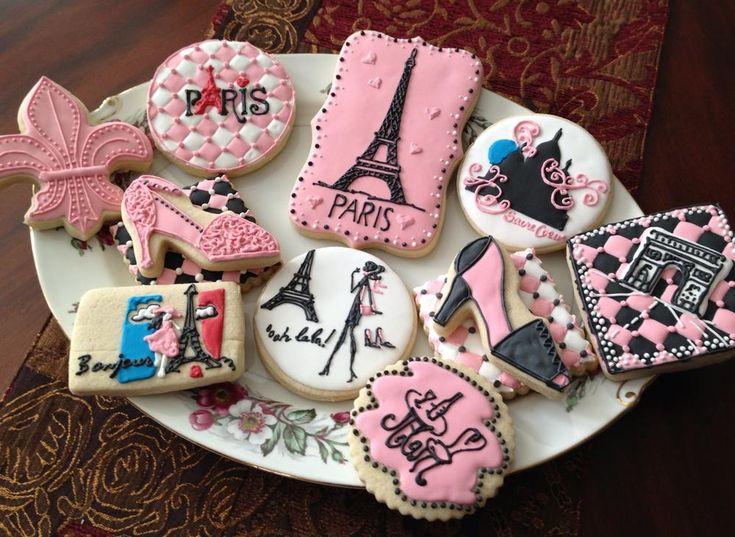 Paris Cookies Pink Poodle Parisian Themed Party